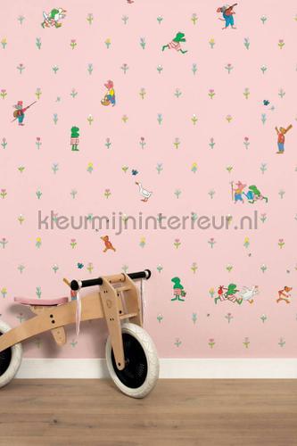 Kikker Roze fotomurales WP-301 Kinderbehang Kek Amsterdam