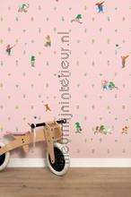 Kikker Roze photomural Kek Amsterdam Kinderbehang WP-301