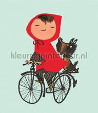 Riding my Bike photomural Kek Amsterdam Kinderbehang WS-036