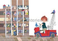 Red Tow Truck II papier peint Kek Amsterdam Kinderbehang WS-056
