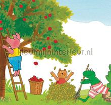 Kikker Picking Apples photomural Kek Amsterdam Kinderbehang WS-063