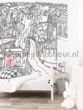 Little Girl Drawing fotomurales WS-093 Kinderbehang Kek Amsterdam