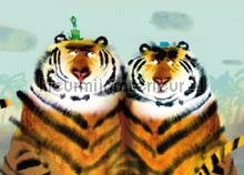 Two Tigers photomural Kek Amsterdam Kinderbehang WS-096