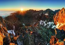 Mountain tops fotobehang Kleurmijninterieur Bossen