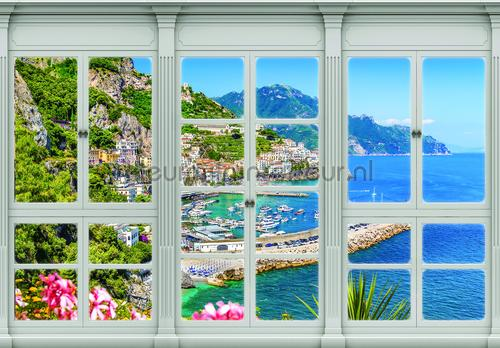 Window View At The Sea Fotobehang Landscape Kleurmijninterieur