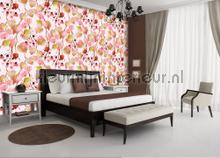 Autumn leaves photomural Kleurmijninterieur Mural room set photo's