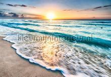 Beach sunset fotobehang Kleurmijninterieur Zon Zee Strand