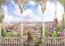 City of romance papier murales Kleurmijninterieur structures