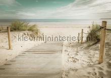Beach soft colors fotobehang Kleurmijninterieur Zon Zee Strand