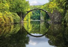 Arch in green landscape fotobehang Kleurmijninterieur Bossen