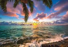 Colorful sea fotobehang Kleurmijninterieur Zon Zee Strand