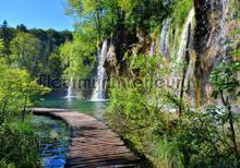 Walking along Falls fototapet Kleurmijninterieur verdenskort