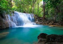 Waterfall wit turquois water fototapeten Kleurmijninterieur weltkarten