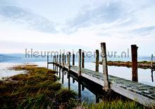 Lake fotobehang Kleurmijninterieur Zon Zee Strand