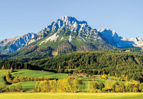 Mountain with green fields fototapeten 12109ve-l Landscape Kleurmijninterieur