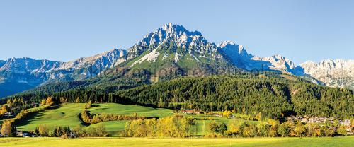 Mountain with green fields fototapeten 12109pve-l Landscape Kleurmijninterieur