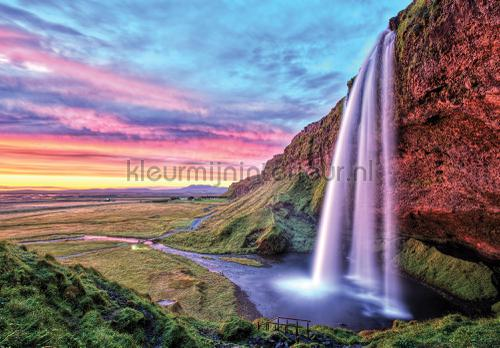 Colorful waterfall fototapeten 12984ve-l Landscape Kleurmijninterieur