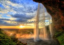 Waterfall sunset photomural Kleurmijninterieur all-images