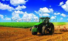 Tractor in the field fotobehang Kleurmijninterieur kinderkamer jongens