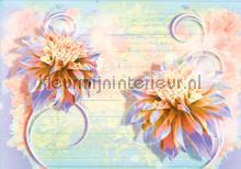 Pastel flowers fototapeten Kleurmijninterieur alle-bilder