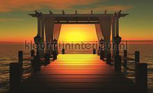 Sunset hotspot fotobehang Kleurmijninterieur Zon Zee Strand