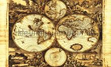 Vintage map photomural Kleurmijninterieur world maps