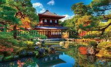 Japanese garden fotobehang Kleurmijninterieur Bossen