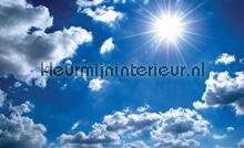 Blue sky fottobehaang Kleurmijninterieur tiener