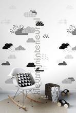 Wolken zwart wit fotomurais Esta for Kids todas as imagens