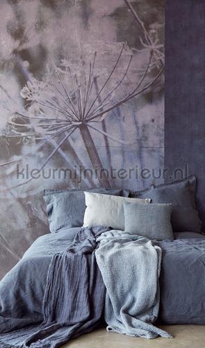 Acanthus blue papier murales 379106 Moderne - Résumé Eijffinger