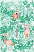 Flamingo forest fotobehang Onszelf Little Wallpaper OZP-3771