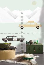 Autos op reis fotobehang Onszelf Little Wallpaper OZP-3775