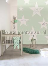 Loving big stars mint fotobehang Onszelf Little Wallpaper OZP-3788