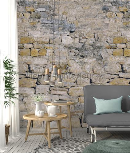 Ruwe stenen muur papier murales ak1001 Moderne - Résumé Behang Expresse