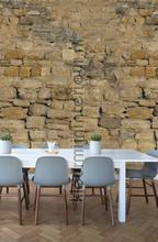Warme ruwe stenen muur fototapeten Behang Expresse weltkarten