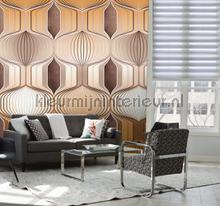 Retro patroon fotobehang Behang Expresse Grafisch Abstract