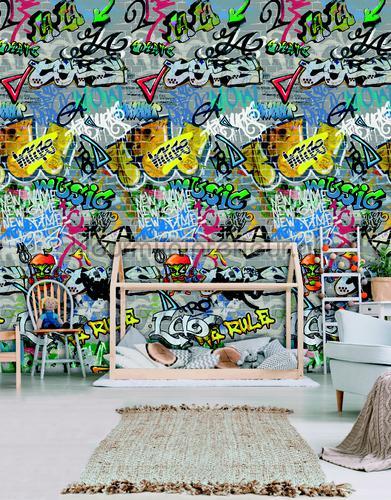 Graffity bespoten muur fotomurales ak1038 Moderno - Abstracto Behang Expresse