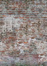 Oude muur van rode bakstenen fotomurais Behang Expresse PiP studio wallpaper