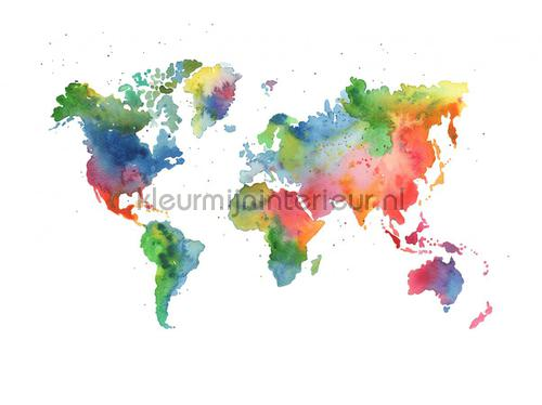 Rainbow world r13431 photomural maps rebel walls kleurmijninterieur rainbow world photomural r13431 kids wallpaper boys rebel walls gumiabroncs Images