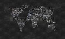 Wanderlust photomural Rebel Walls world maps