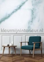 Marmer wit blauw fototapet Kek Amsterdam Mural room set photo's
