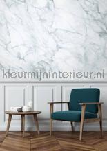 Marmer wit grijs fototapet Kek Amsterdam Mural room set photo's