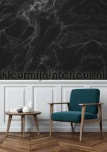 Marmer zwart grijs fototapet Kek Amsterdam Mural room set photo's