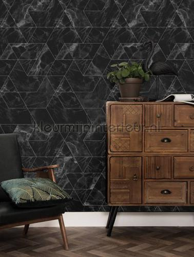 Marmer mosaic zwart grijs fotobehang wp-575 Kek Amsterdam