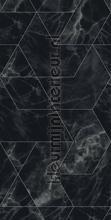 Marmer mosaic zwart grijs papier murales Kek Amsterdam classique