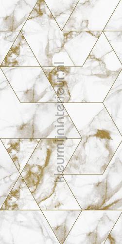 Marmer mosaic wit goud photomural wp-576 Kek Amsterdam