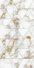 Marmer mosaic wit goud papier murales Kek Amsterdam Marmer wp-576
