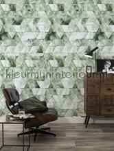 Marmer mosaic groen papier murales Kek Amsterdam Marmer wp-577