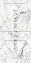 Marmer mosaic wit grijs fotomurais Kek Amsterdam PiP studio wallpaper
