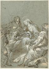 Aanbidding der koningen Federico Barocci fotobehang Kleurmijninterieur Kunst---Ambiance